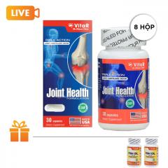 Bộ 8 hộp thực phẩm bổ xương khớp Vitar Joint Health (Hộp 30 viên) | TẶNG: 2 Hộp dầu cá Omega Vitar Fish Oil 30 viên/ hộp