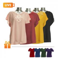 Bộ 4 áo che khuyết điểm trung niên Vacatino | TẶNG:  4 áo thun nữ