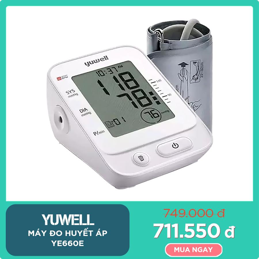 Máy đo huyết áp YUWELL YE660E | TẶNG: Máy đo đường huyết Yuwell